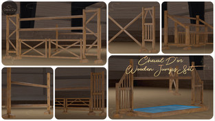 Cheval D'or - Wooden Jumps Set