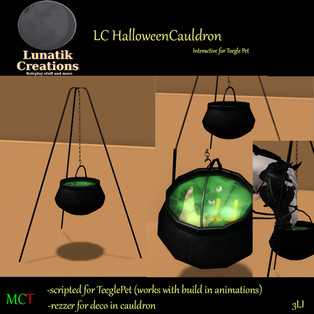 Lunatik Creations - Halloween Cauldron