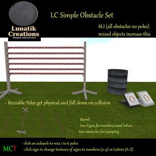 Lunatik Creations - Simple Obstacle Set