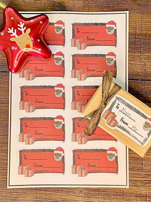 Sticker Gift Labels - Red (10 Stickers)