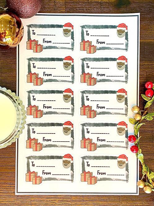 Sticker Gift Labels - White (10 Stickers)