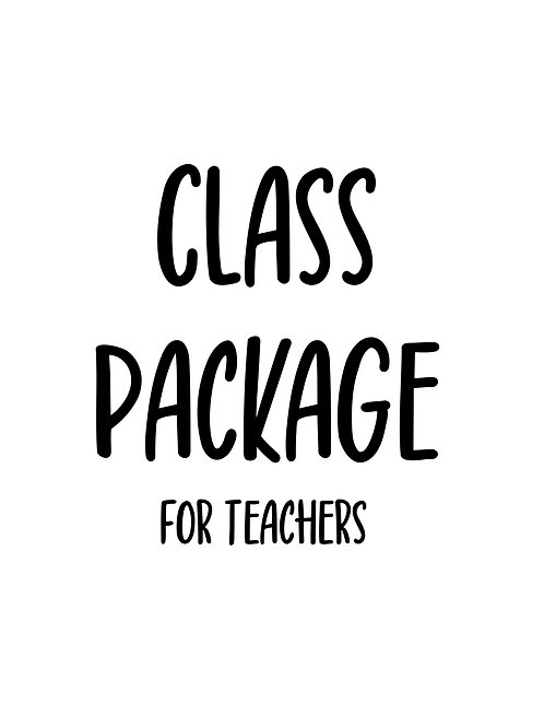 Class Package (Toddler - Kindy Aged)