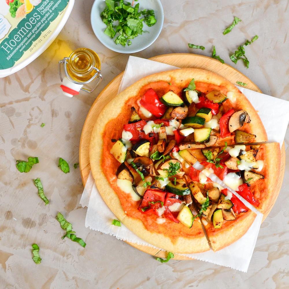 Pizza hummus