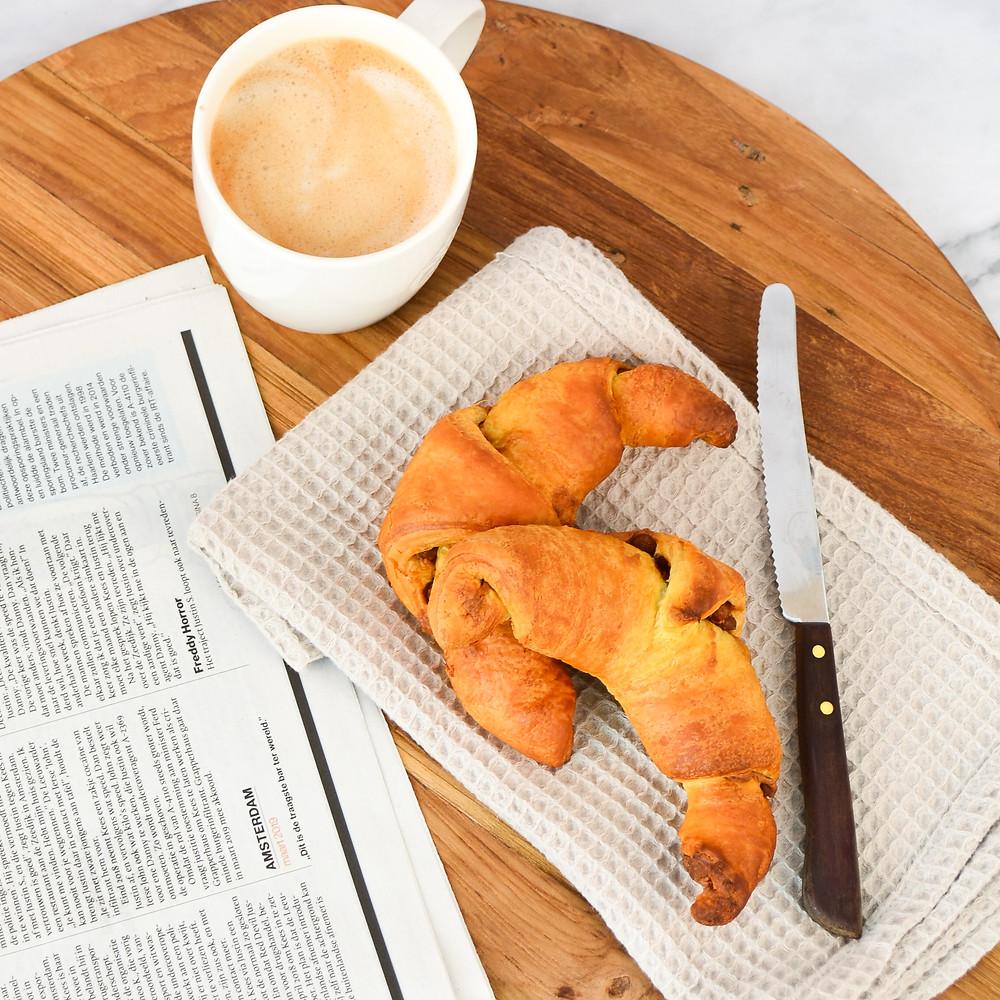 Croissants met speculoos en schuddebuikjes