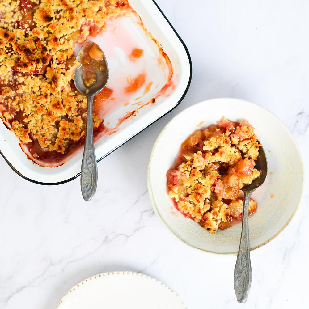 Recept rabarber crumble