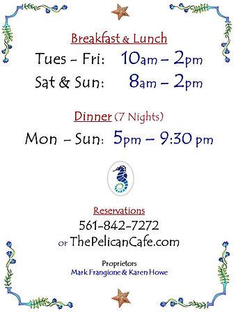 2021 Pelican Cafe Season Hours Door.jpg