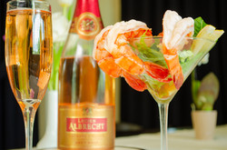 Jumbo Shrimp Cocktail with Sparkling Ros