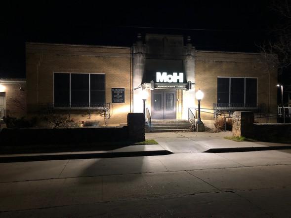 Claremore Museum of History at night.jpg