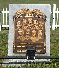 Veterens Memorial Plaque at Sweeten Cemetery, Inola