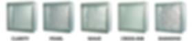 Premier glass block pattern options diamond cross-rib wave pearl clear
