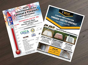 Business Flyer design and printing Catoosa, Owasso, Broken Arrow, Claremore, Tulsa