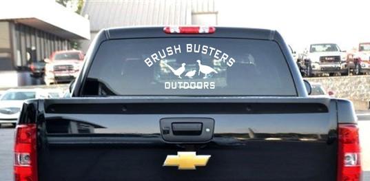 Brush Busters Truck Window Vinyl Graphics