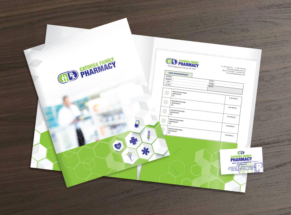 Presentation Folder, Inserts & Card