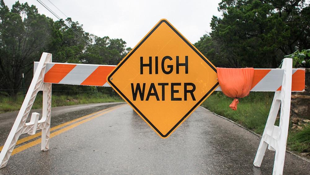 Tulsa Flooding High Water Sign
