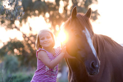 Little Girl with Horse Stock Image 800x533