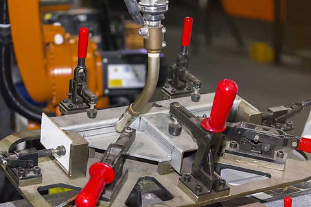 Assembly Jig in Shop Aerospace Foundry Hydraulic Electrical | HP Manufacturing | Harris Pattern | Tulsa, OK