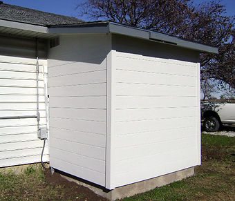 Tornado shelter / storm shelter added to home