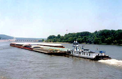 Barge on Verdigris Channel