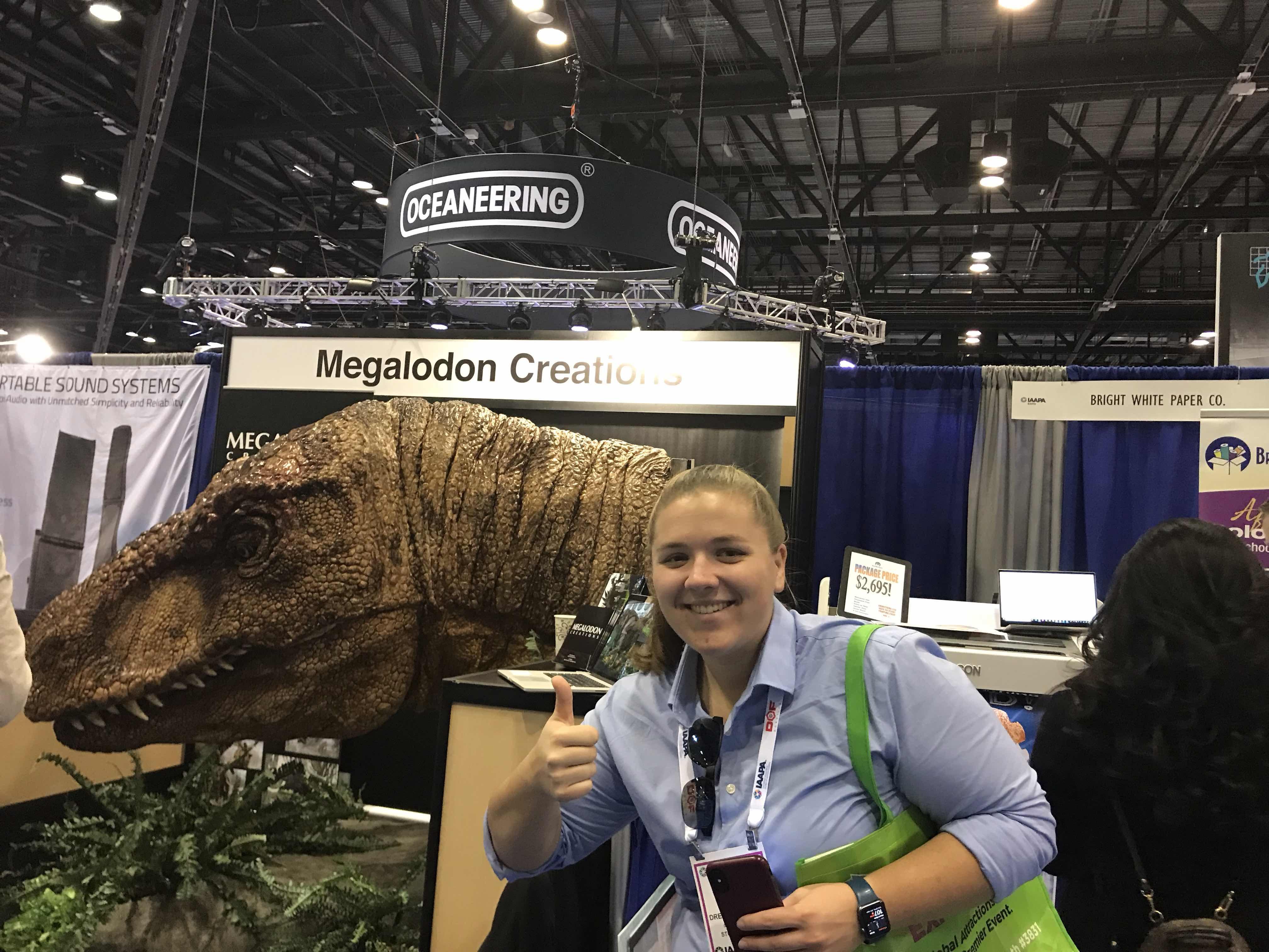 Animatronic Dinosaur at IAAPA 2019