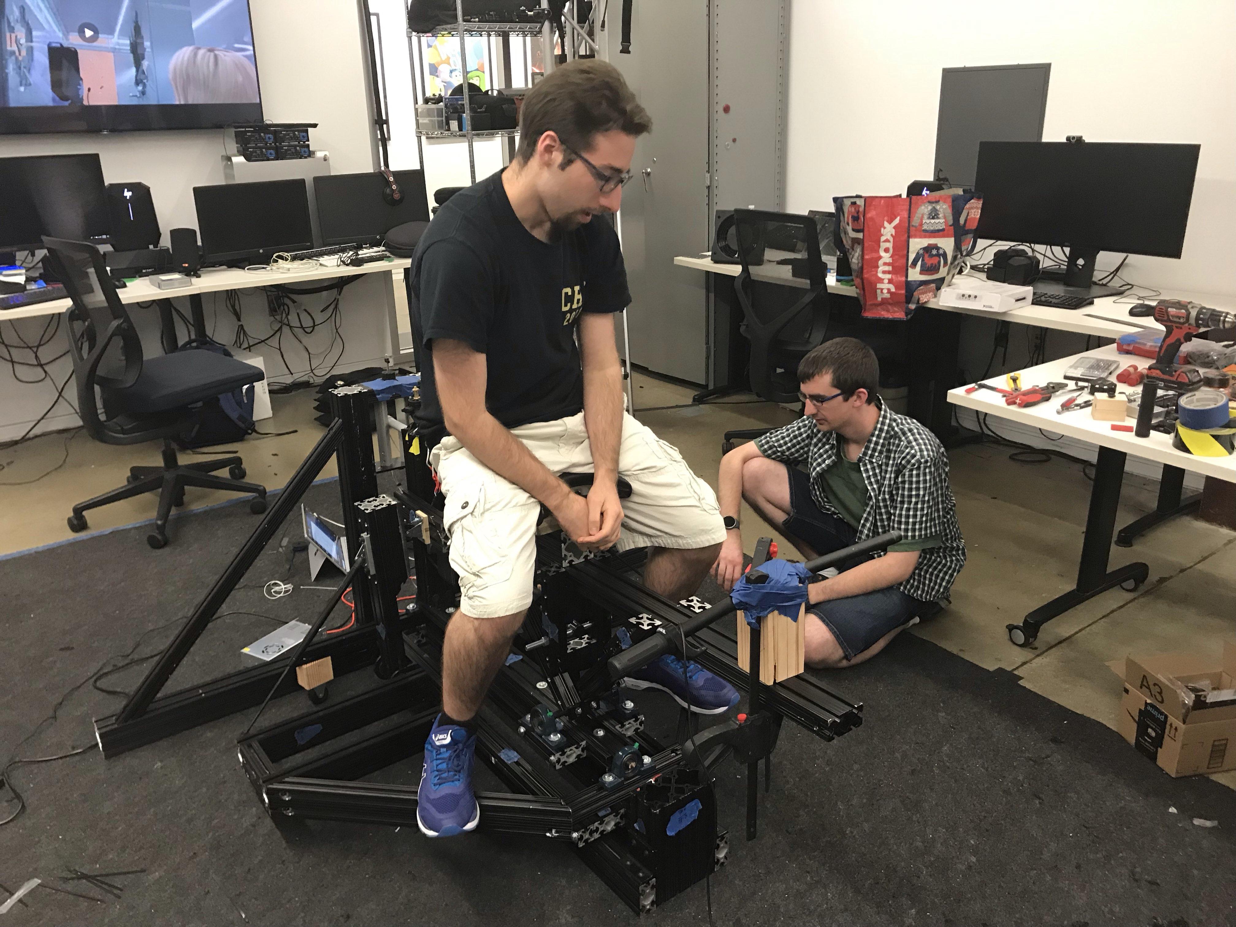 Project Director Testing Bike