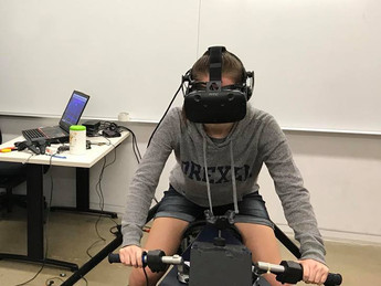 Freshman Experience VR Bike for the First Time