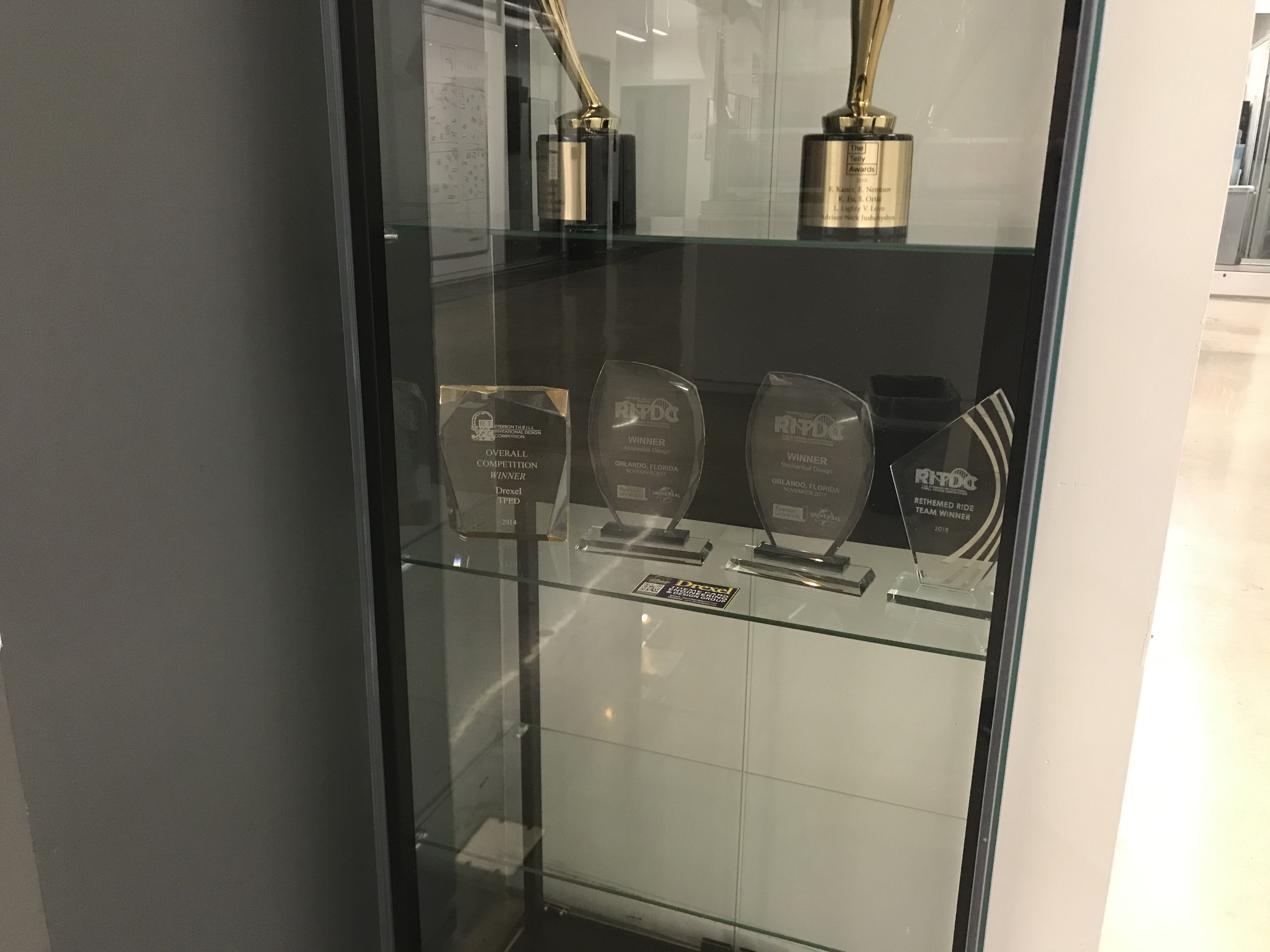 New Trophy Case Backdrop
