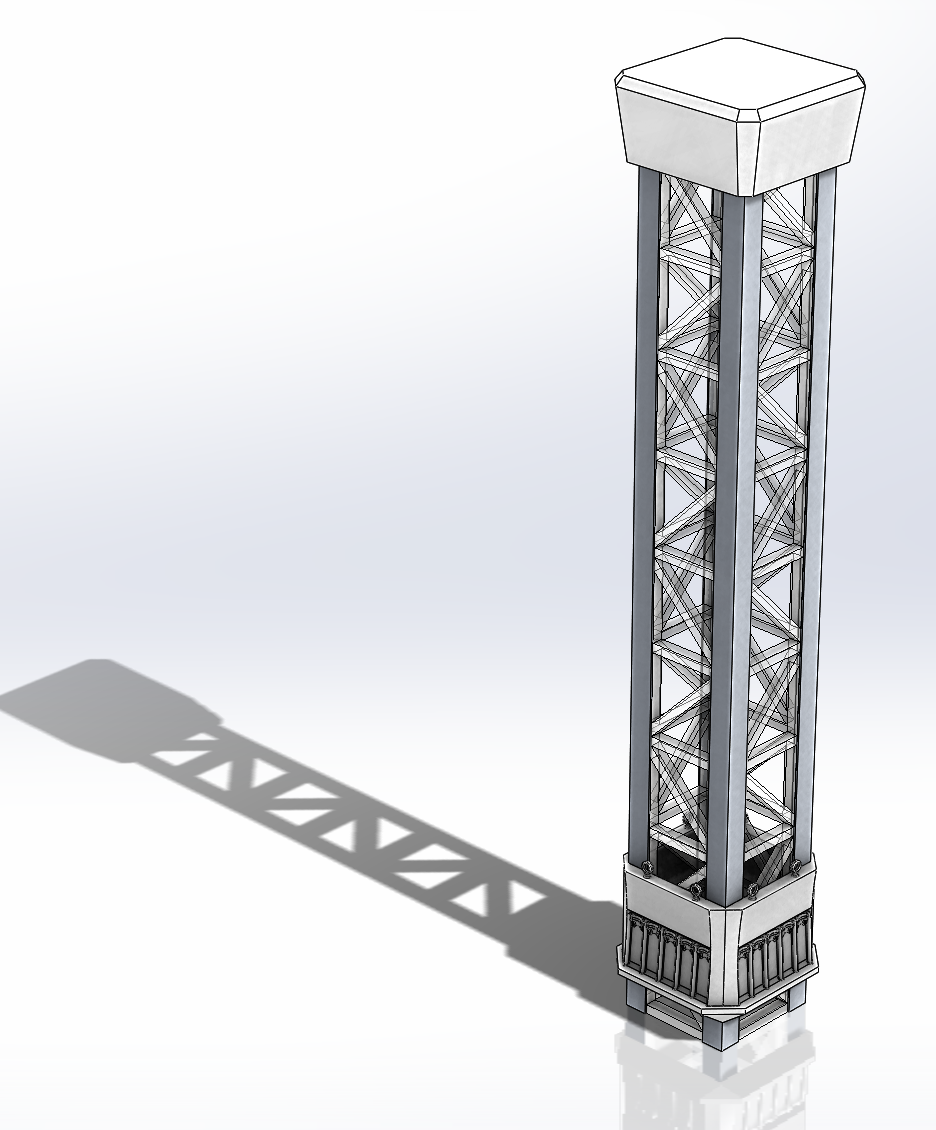 Model Drop Tower SolidWorks (WIP)