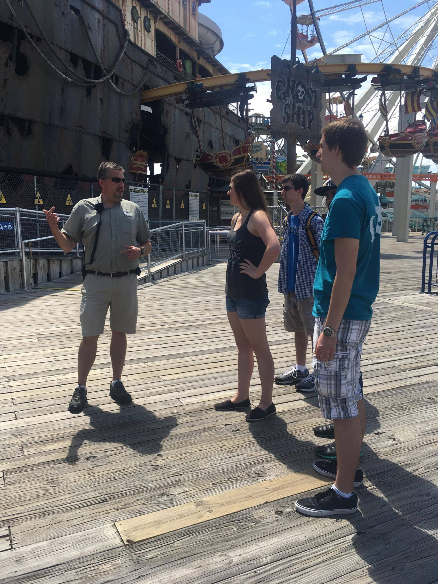 Getting a Tour of Morey's Piers