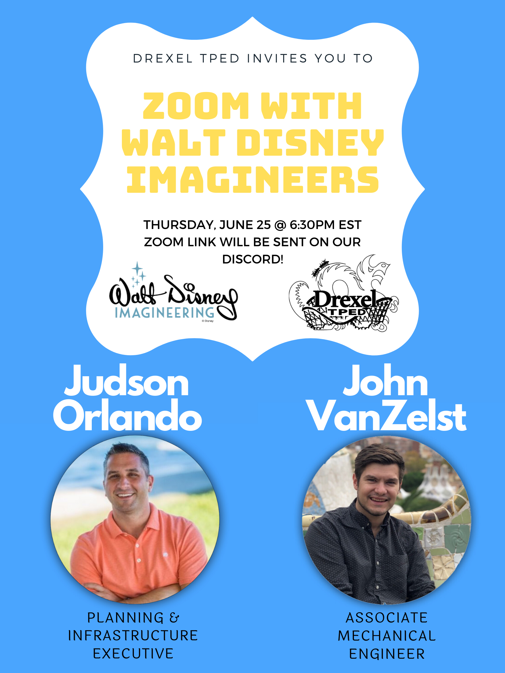 Zoom with Drexel Imagineers Summer 2020