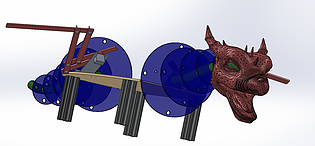 Animatronic Dragon SolidWorks Model