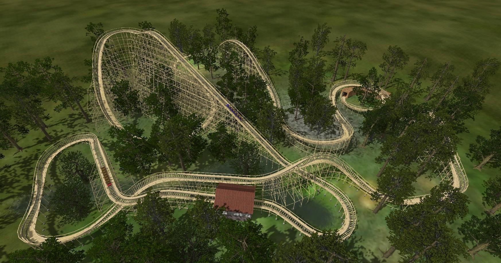 NoLimits Wooden Coaster Design