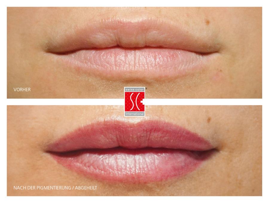 Lippenkontur mit Schattierung