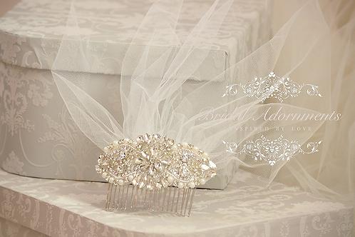 Bridal Ivory Tulle Birdcage Veil