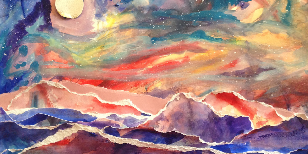 Into the Sky- Lively Landscapes:  Children's Pop- Up Art Class for Emergent Wanderers (ages 6 and up)