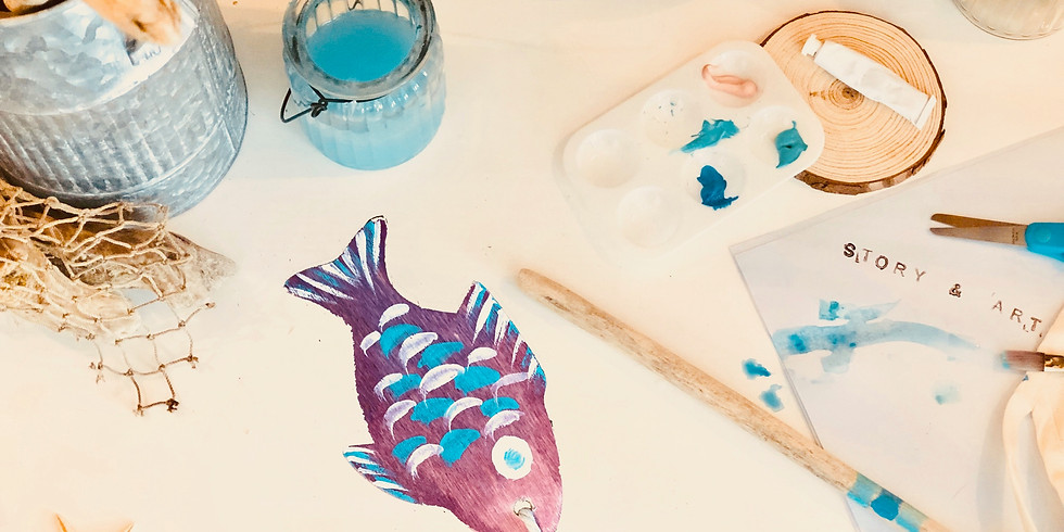 """Story & Art- """"Go Fish"""" for Little Wanderers (Ages 3-6)"""