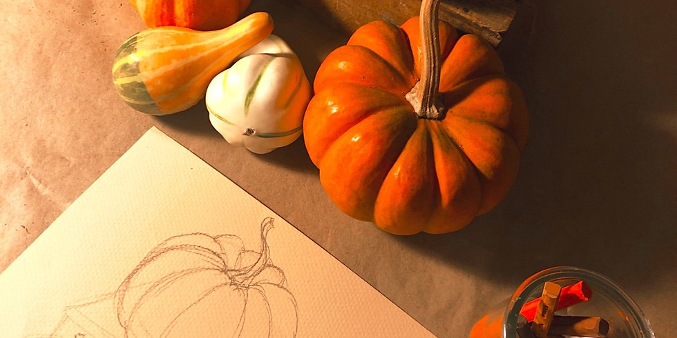 Pumpkins and Leaves and Gourds, Oh my! - Create Your Own Autumn Still Life