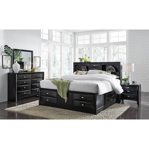 LINDA BLACK BEDROOM