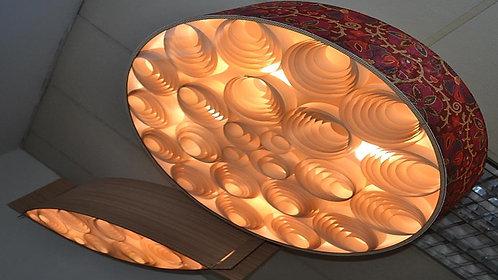 CLIENTE VINÍCIUS - LUSTRES SOPHIA 80cm X 20cm madeira imbuia