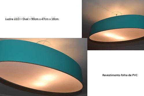 Lustre-Promoção-Luminária-Pendente-Sala-Estar-Jantar - oval 90cm x 47cm x 20cm