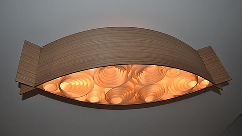 Lustres-Luminárias-Pendentes Sophia BOMBOM 1,50m x 26cm x 27cm- madeira