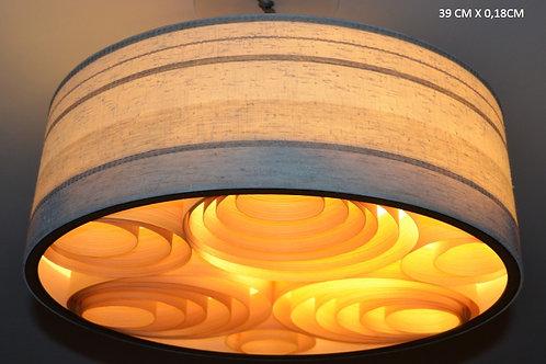 Lustres-Luminárias-Pendentes Sophia 39cm x 18cm Couro-tecido-vinílico