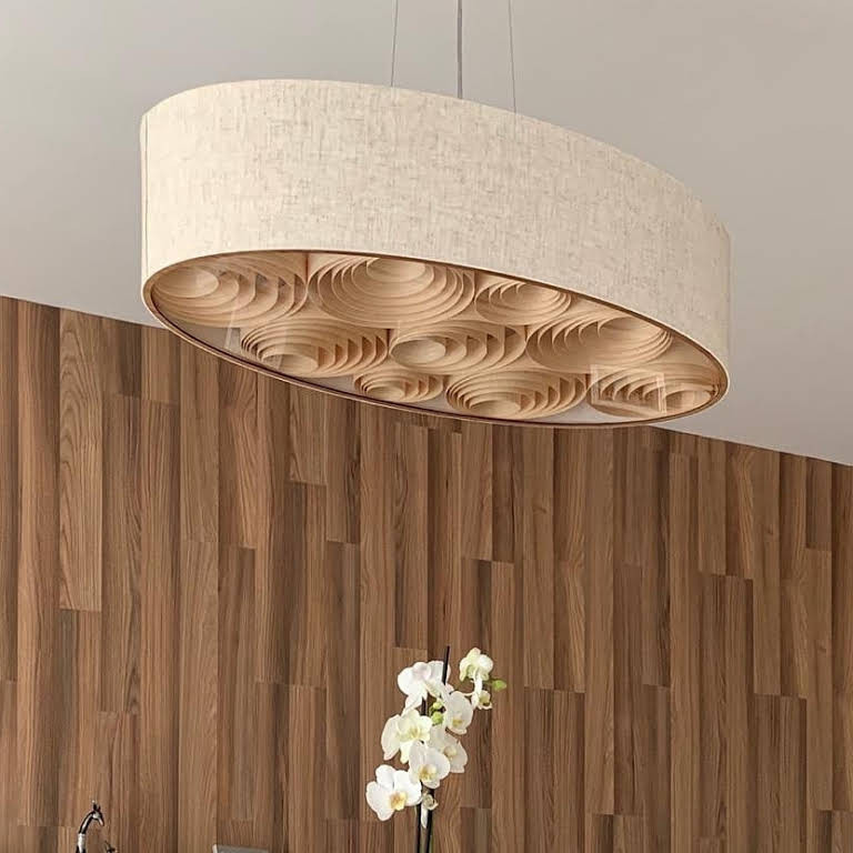 www.lustresparasala.com  Lustre oval pendente para sala de jantar e estar.