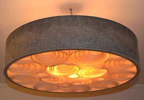 Lustres-Luminárias-Pendentes Sophia 54cm x 20cm Couro-tecido-vinílico