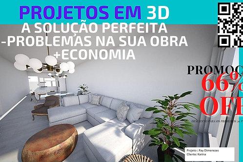 PROJETOS EM 3D PROMOÇÃO - CONSTRUÇÃO-REFORMA-OFERTA