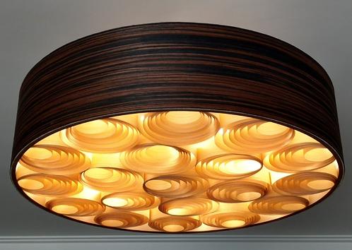 Lustre-Luminária-Pendente Sophia 80cm x 20cm Madeira