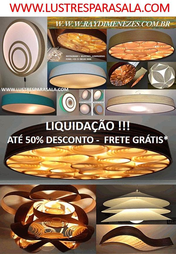 Promoção-Oferta-Liquidação-Lustres-Luminarias-Pendentes-Madeira-Sala