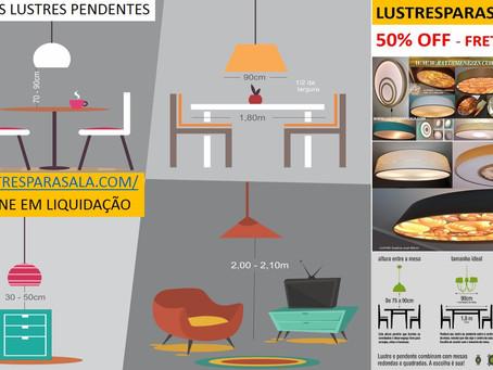 Altura correta do lustre / tamanho das mesas
