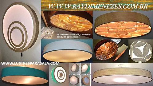 LIQUIDAÇÃO-Lustres-Luminárias-Pendentes-Sala-Madeira-Iluminação-Oferta