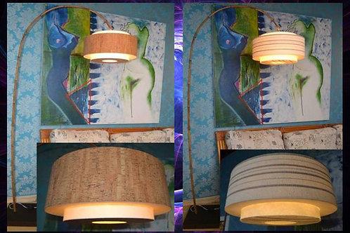 Luminária de chão com bambu MÉDIA -CUPULA 39CM