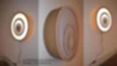 Luminária e Painel Decorativo de Parede.
